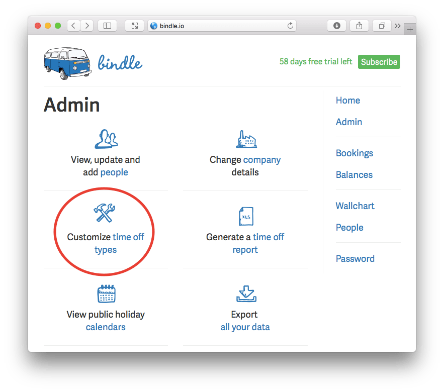 Custom entitlements on the Admin page